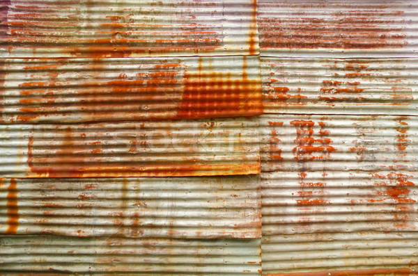 Rust on old corrugated sheets Stock photo © Ustofre9