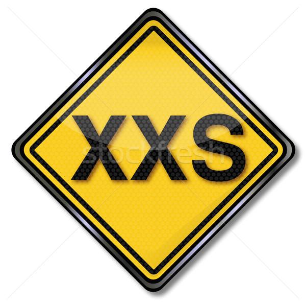Sign size specification XXS Stock photo © Ustofre9
