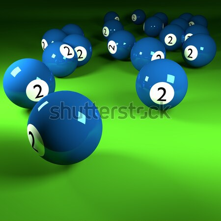 Green billiards balls number six  Stock photo © Ustofre9