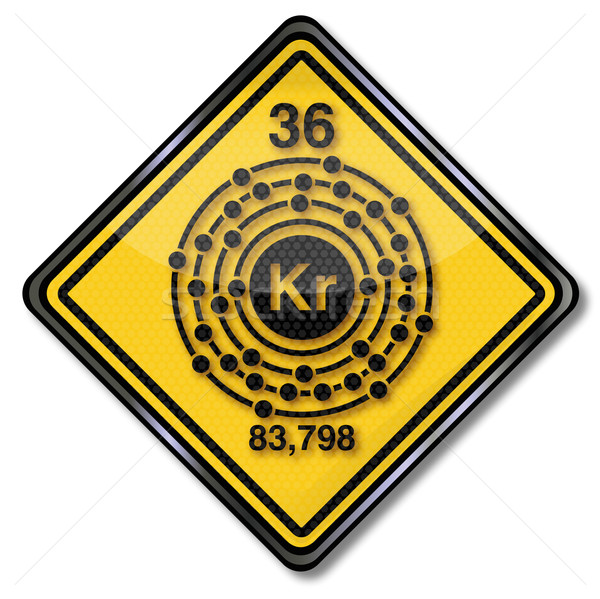 Sign chemistry character krypton  Stock photo © Ustofre9