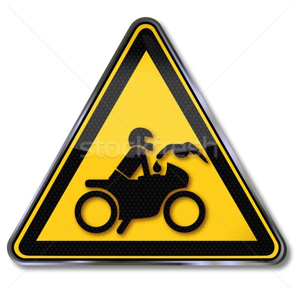 Teken niet motorfiets motor lopen recht Stockfoto © Ustofre9
