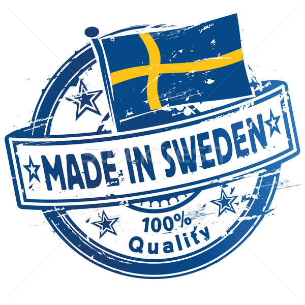 Rubber stamp made in Sweden Stock photo © Ustofre9