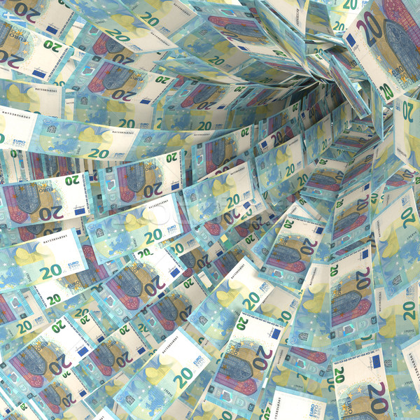Money vortex of twenty euro bills Stock photo © Ustofre9