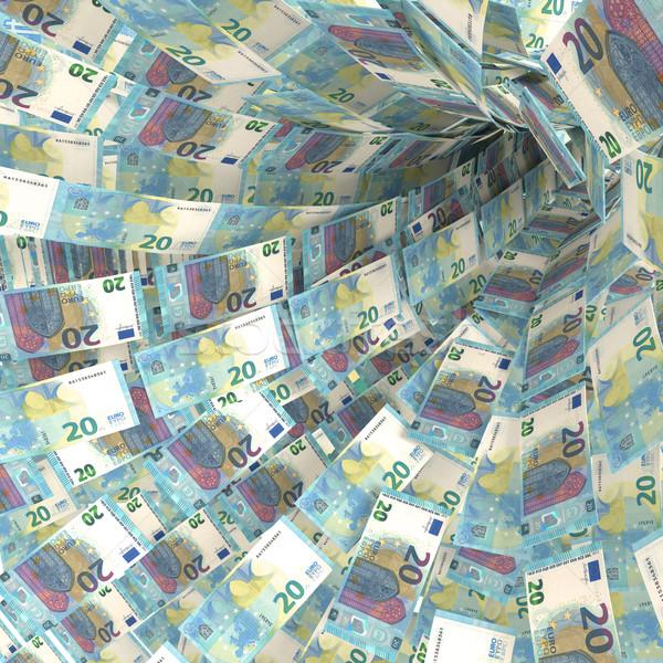 Dinheiro vórtice vinte euro construção Foto stock © Ustofre9