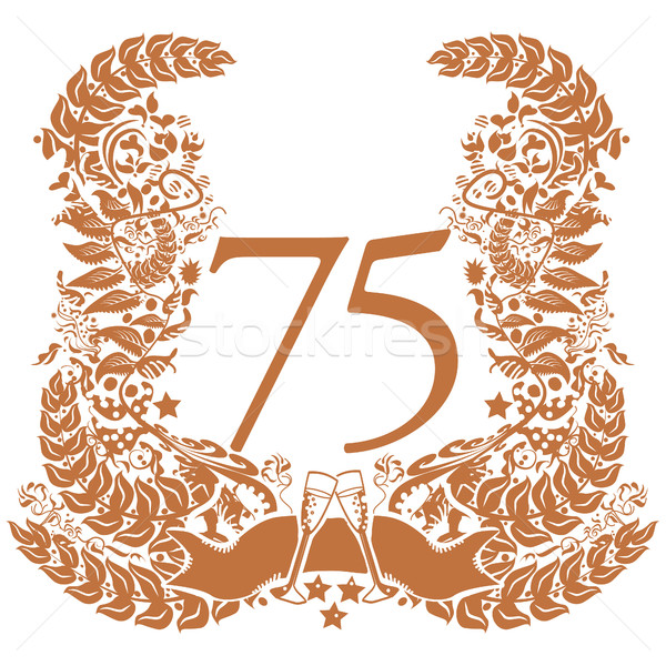 Vignette for the 75th anniversary Stock photo © Ustofre9
