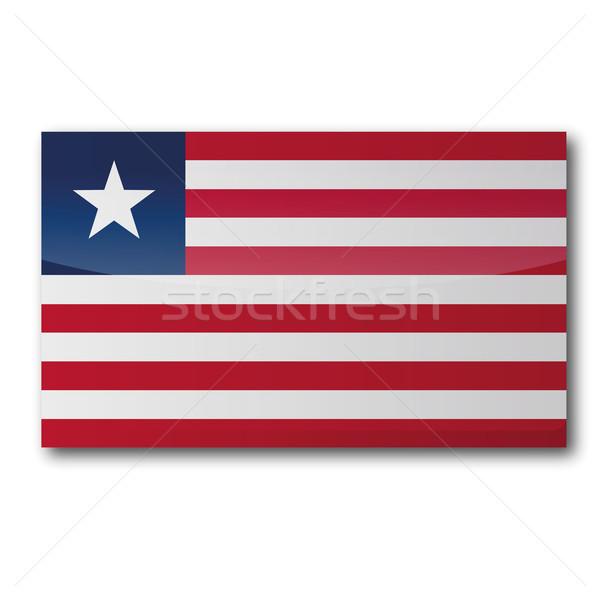 Flag Liberia Stock photo © Ustofre9