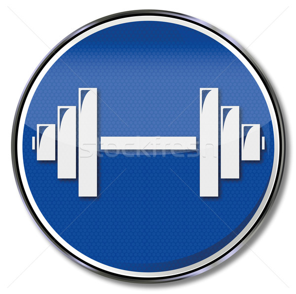 Sign dumbbell and weightlifting  Stock photo © Ustofre9