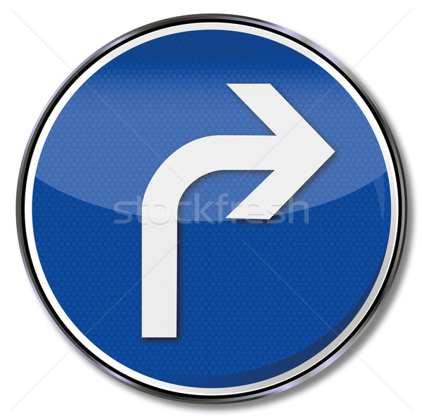 Traffic sign arrow to the right Stock photo © Ustofre9