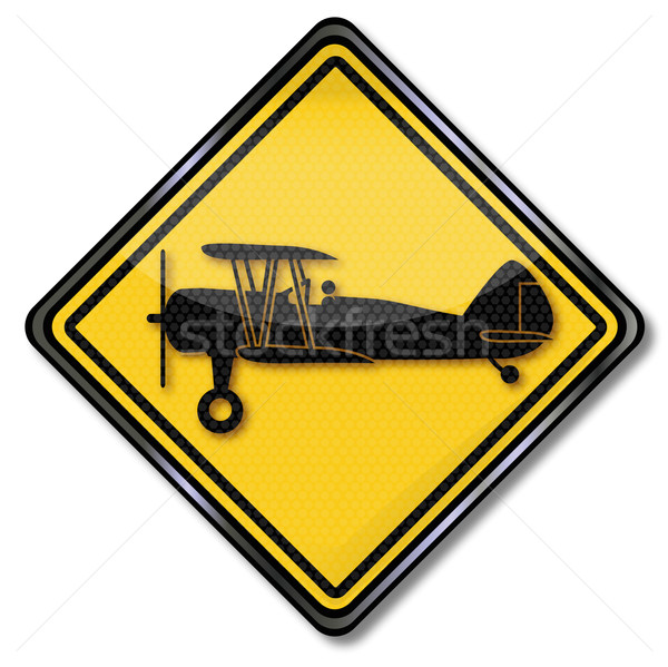 Sign biplane in the air Stock photo © Ustofre9