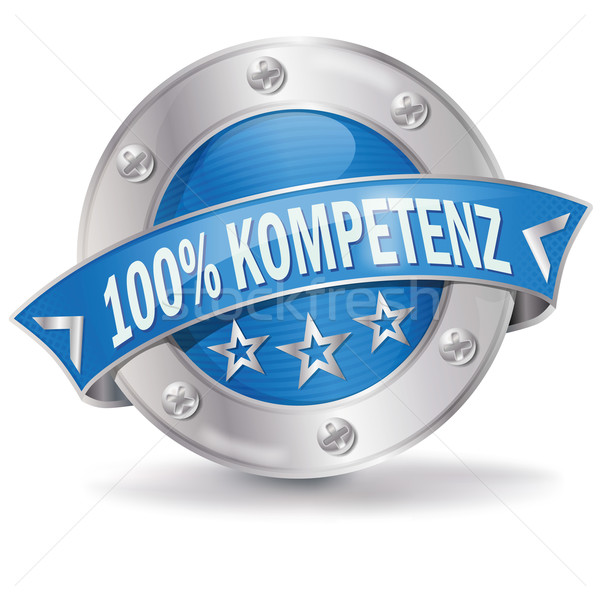 Button 100 percent competence  Stock photo © Ustofre9