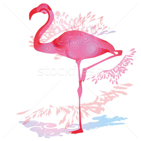 Shadow blob with Flamingo Stock photo © Ustofre9