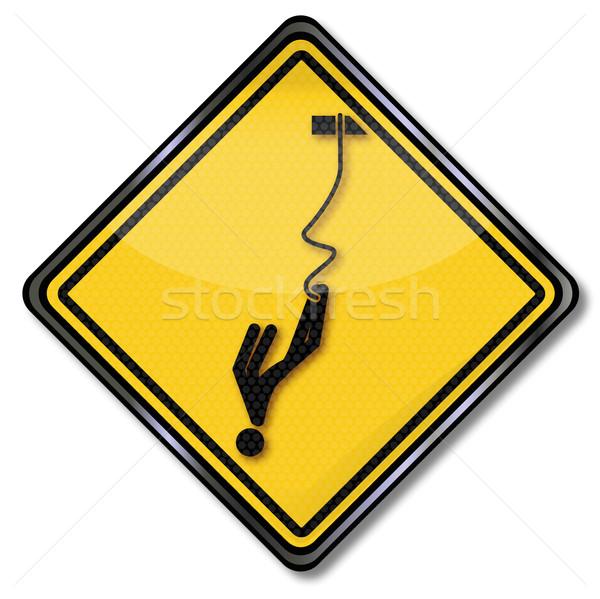 Alerta saltar deportes edificio signo puente Foto stock © Ustofre9