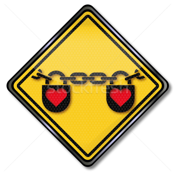 Love sign with chain and heart Stock photo © Ustofre9