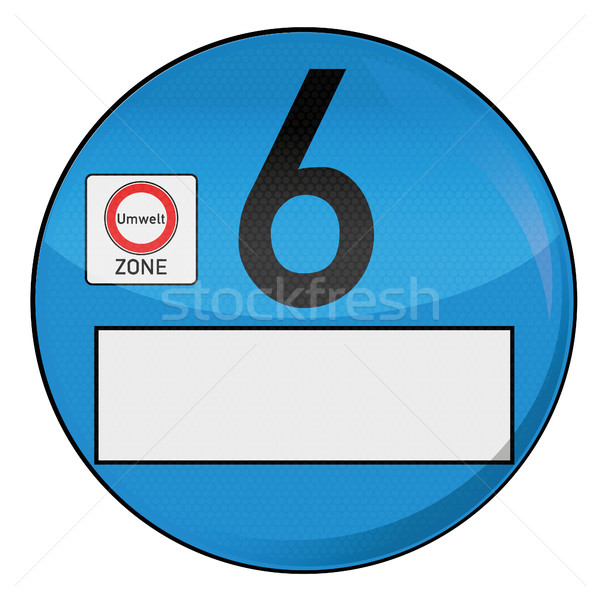Environment badge number 6 Stock photo © Ustofre9