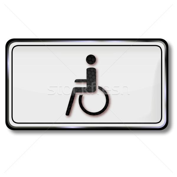 Sinaleiro cadeira de rodas estrada médico hospital assinar Foto stock © Ustofre9