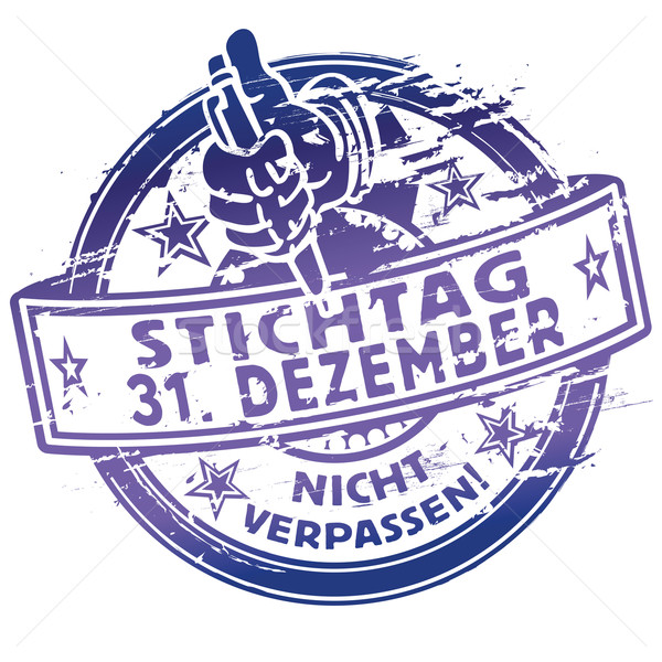 Rubber stamp date December 31 Stock photo © Ustofre9