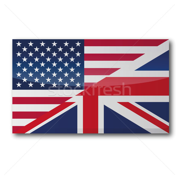 Flag translation in english and american Stock photo © Ustofre9