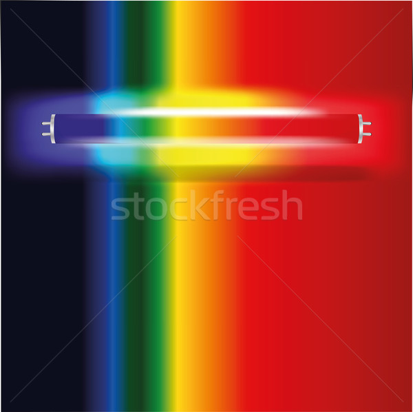 Neon lamp with visible spectrum Stock photo © Ustofre9