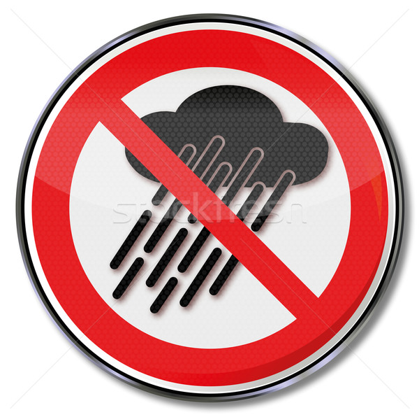 Prohibition sign do not use  device when it is wet or raining  Stock photo © Ustofre9