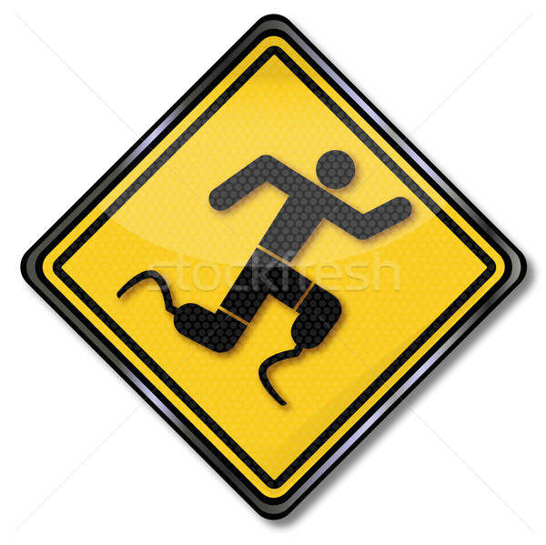 Sign man with prosthetic legs during exercise Stock photo © Ustofre9