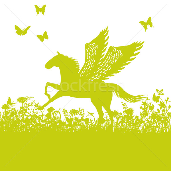 Pegasus or horse with wings Stock photo © Ustofre9