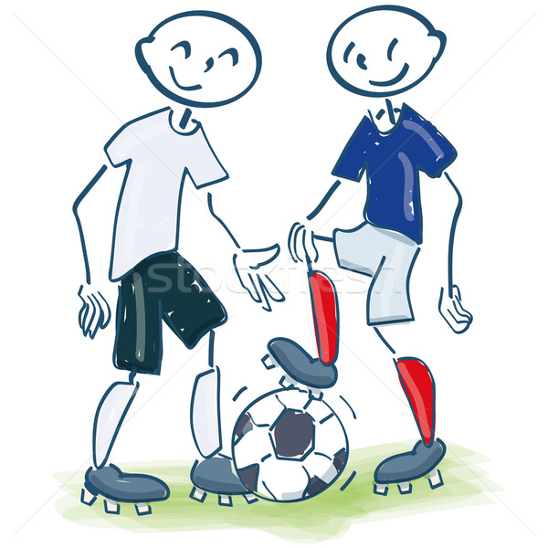 Stick figure as footballers Stock photo © Ustofre9