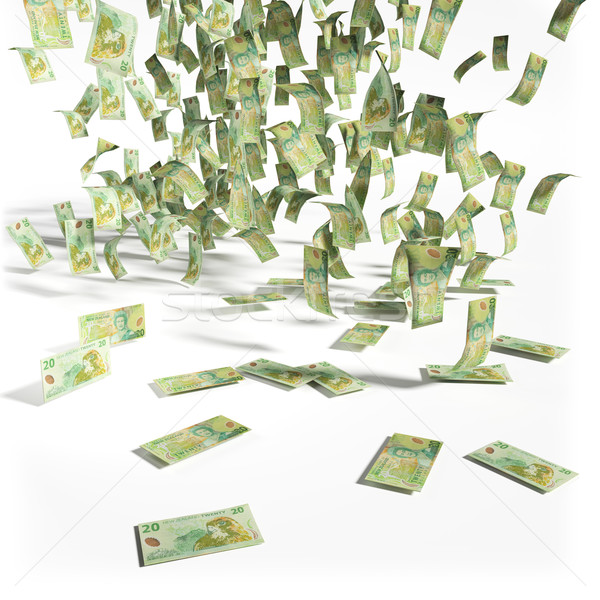Money rain of 20 New Zealand Dollar bills Stock photo © Ustofre9