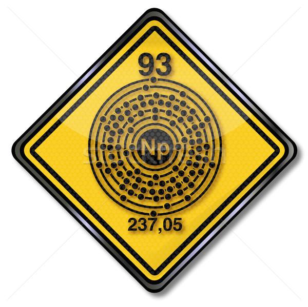 Chemistry shield and chemical symbol Neptunium Stock photo © Ustofre9
