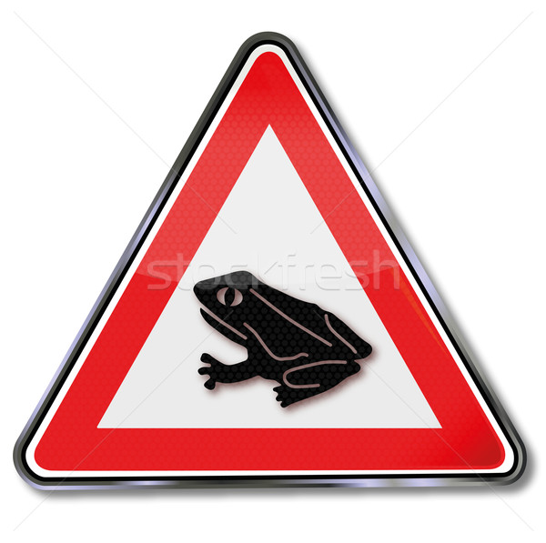 Sign frog and toad migration Stock photo © Ustofre9