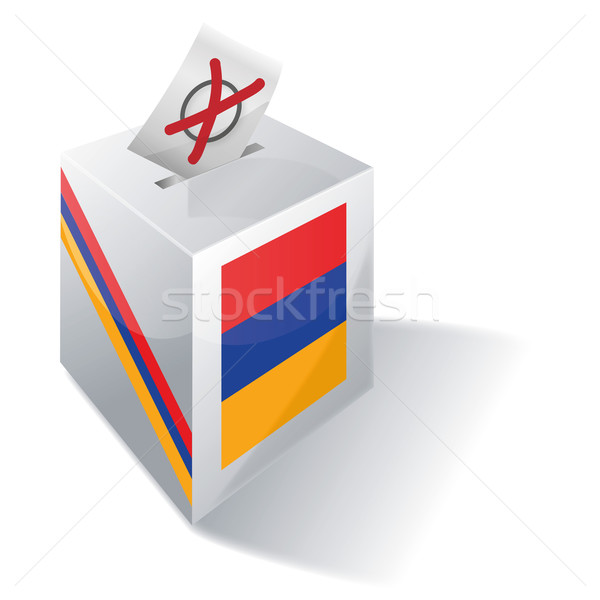 Ballot box Armenia Stock photo © Ustofre9