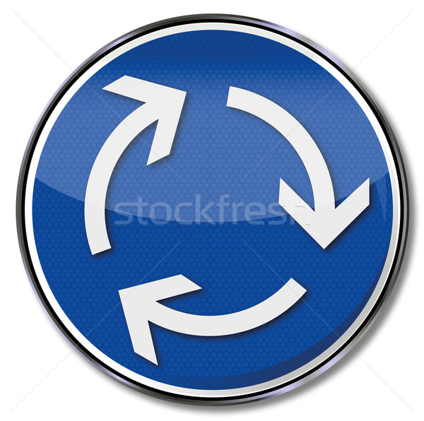 Sign clockwise and left-hand traffic Stock photo © Ustofre9