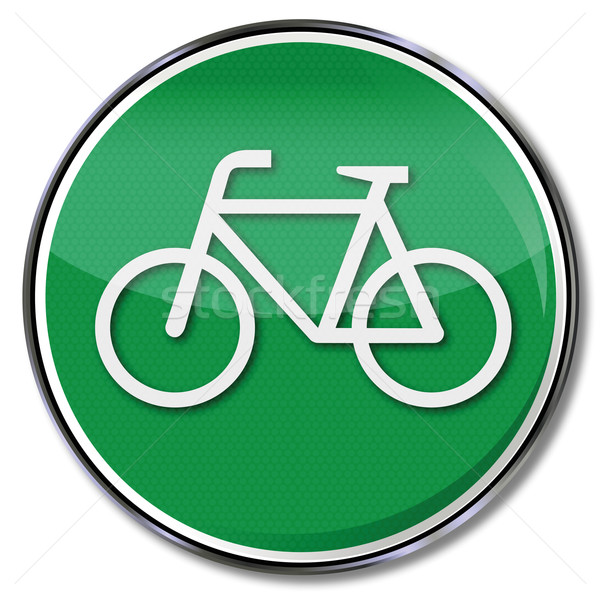 Traffic sign bicycle lane as an alternative Stock photo © Ustofre9