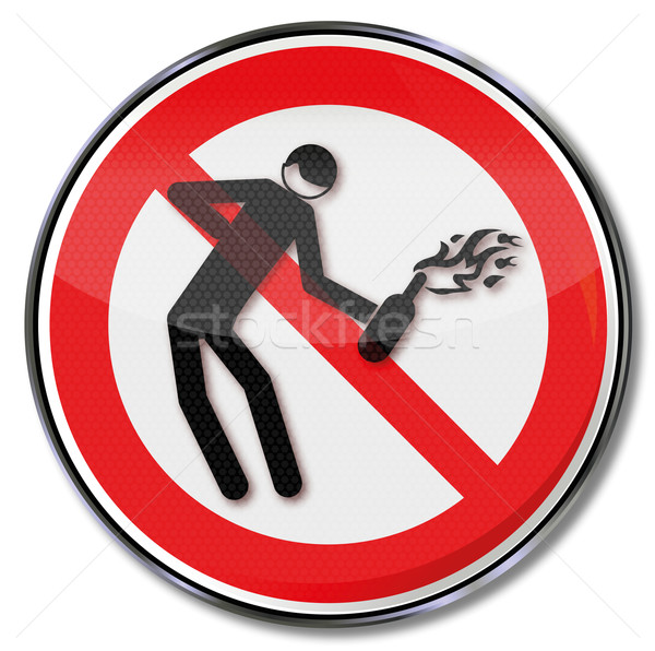 Prohibition sign for Molotov cocktails Stock photo © Ustofre9