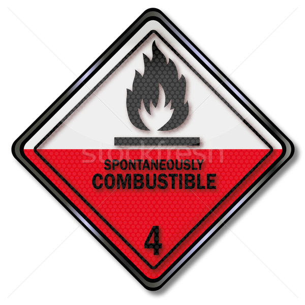 Danger sign to spontaneous combustion Stock photo © Ustofre9