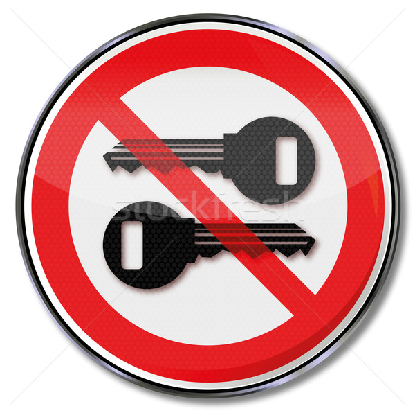Prohibition sign for keys Stock photo © Ustofre9