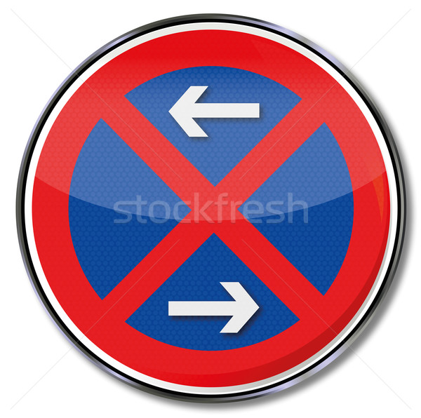 Pajzs tilos forgalom feliratok gomb címke Stock fotó © Ustofre9