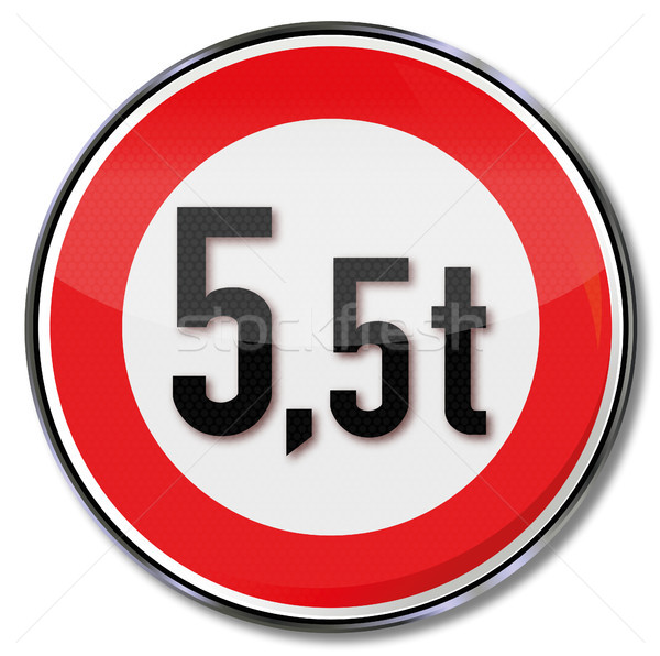 Traffic sign 5.5 tonnes maximum weight Stock photo © Ustofre9