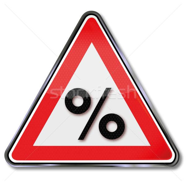Pajzs százalék százalékok nyereség üzlet pénz Stock fotó © Ustofre9