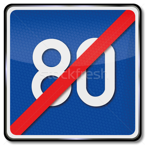 Traffic sign repealing directive speed Stock photo © Ustofre9