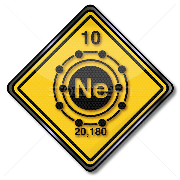 Sign chemistry character neon  Stock photo © Ustofre9