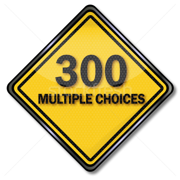 Computer sign and Computer plate 300 Multiple Choices  Stock photo © Ustofre9