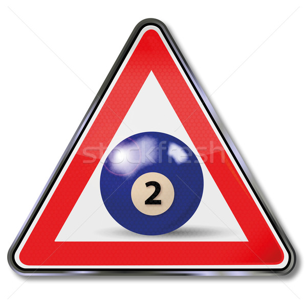 Shield blue pool billiard ball number 2 Stock photo © Ustofre9