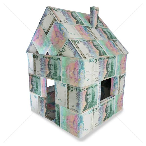 House of 100 swedish kronor Stock photo © Ustofre9