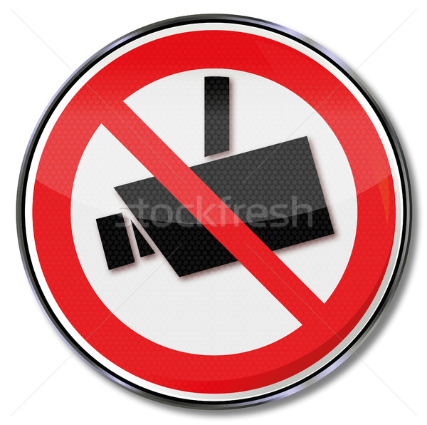 Prohibition sign camera and camera surveillance Stock photo © Ustofre9