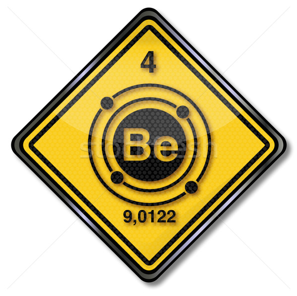 Sign chemistry character beryllium  Stock photo © Ustofre9