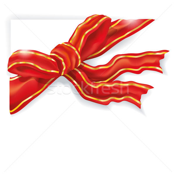 Golden and red ribbon and packaging tape Stock photo © Ustofre9