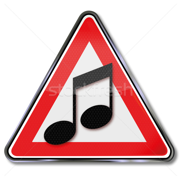 Sign music and music notes Stock photo © Ustofre9