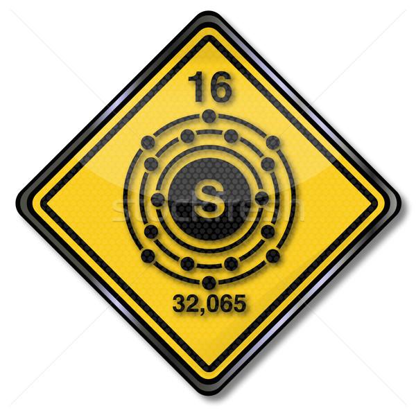 Teken chemie karakter energie borden Geel Stockfoto © Ustofre9