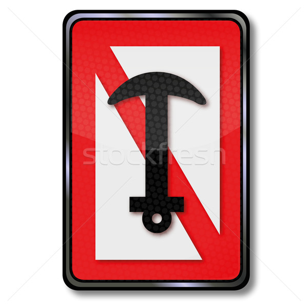 Forbidden-to-navigation sign anchors and anchor Stock photo © Ustofre9