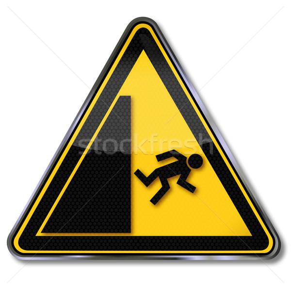 Danger sign warning risk of falling Stock photo © Ustofre9
